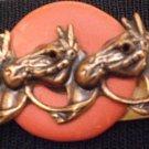 #P017 - Three Horse Head Pin