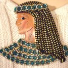 #P033 - Copper Cleopatra Pin