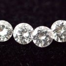 natural loose white diamond 1mmsize--4pcslot