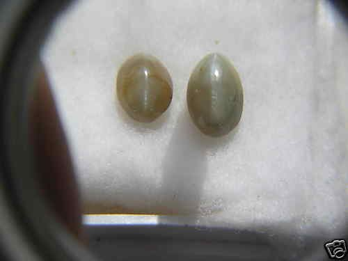 NATURAL -ALEX-CHRYSOBERYLCATSEYE,7CTW-2PCS,LOWESTDEAL