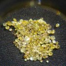 NAT-CANARYYELLOWDIAMOND-1.3MM-1CTW-95PCSLOT,UNTREATED