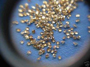 NAT- BROWN DIAMOND 1MM SIZE 25PCSLOT-NORESERVE