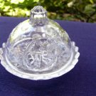 Nursery Rhyme Toy Pattern Glass Covered Butter