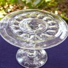 Baby Thumbprint Toy Pattern Glass Cake Stand