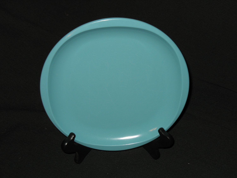 "Boonton Ware 8 3/8"" Salad Plate Turquoise"