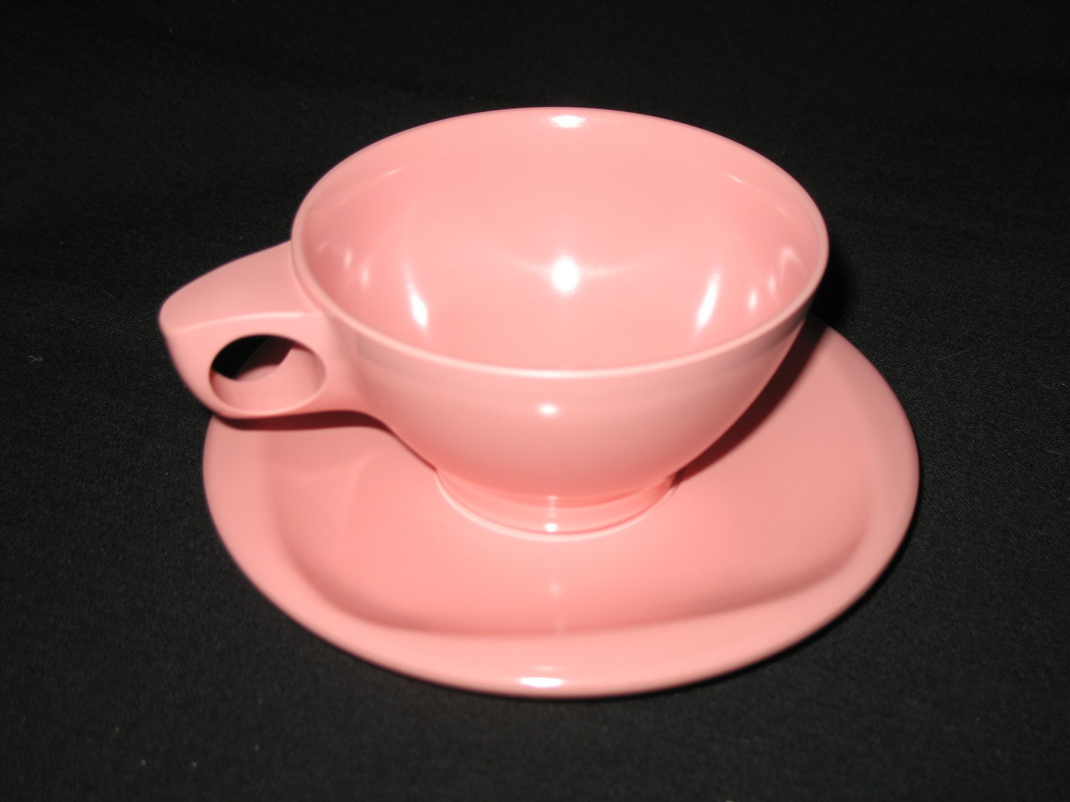 Boonton Ware  Cup and Saucer Set Pink