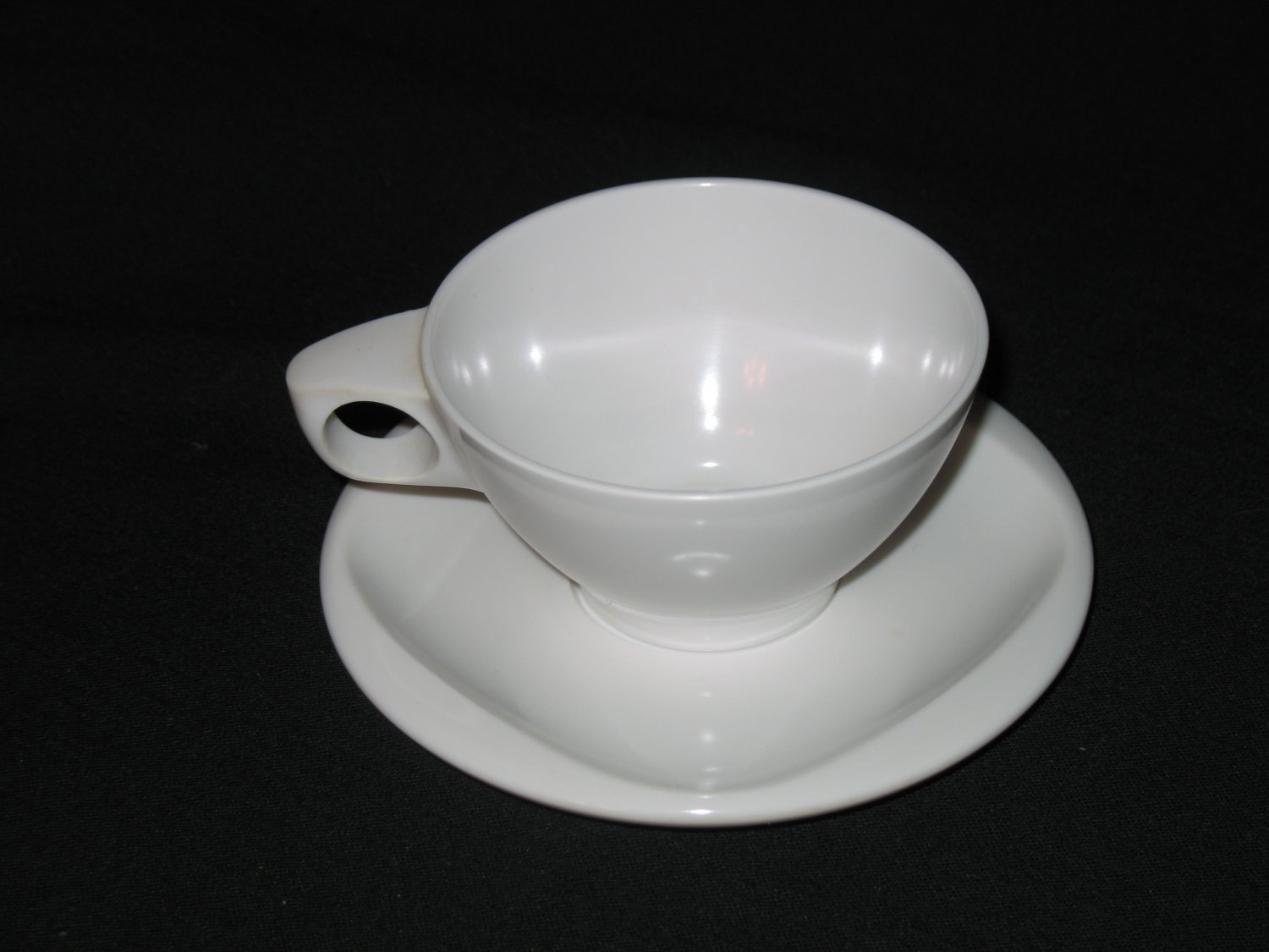 Boonton Ware  Cup and Saucer  Set  White