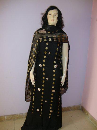 PAKAPPAREL : Unstitched Salwar Kameez B10-42-Black