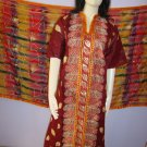 PAKAPPAREL :  Unstitched Cotton With Shiffon Golden Paint Dubatta Salwar Shalwar Kameez B10-48
