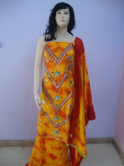 PAKAPPAREL : Unstitched Ubtan Dress Salwar Kameez C10-66-5