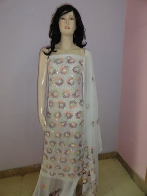 PAKAPPAREL : Hand Made Unstitched Salwar Shalwar Kameez C10-156-3-2