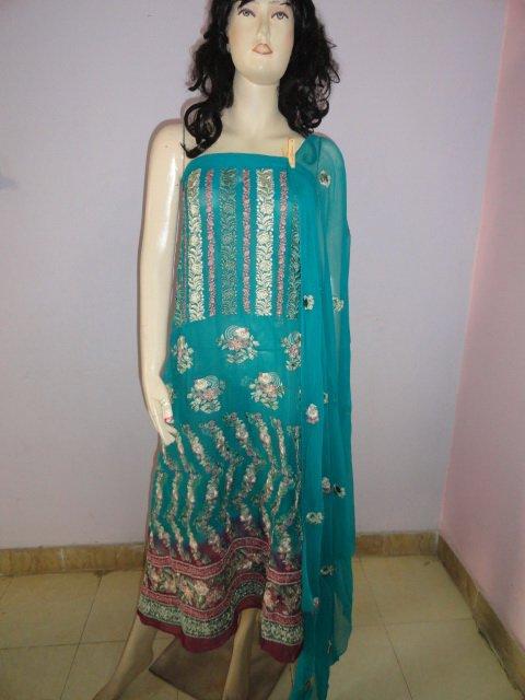 PAKAPPAREL : Pure PK Crinkle Chiffon Salwar Shalwar Kameez- C10-161-2