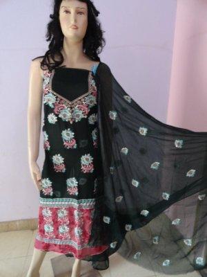 PAKAPPAREL : Pure PK Crinkle Chiffon Salwar Shalwar Kameez- C10-157-5