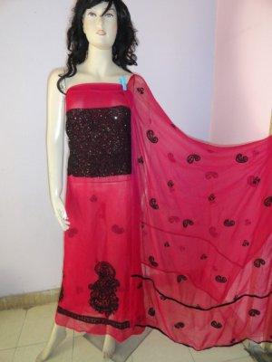 PAKAPPAREL : Pure PK Crinkle Chiffon Salwar Shalwar Kameez- C10-136-4 E&E