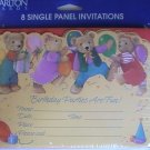 Carlton Cards Sculpted Birthday Party Invitation Cards