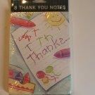 Gibson Crayon Thank You Note CArds