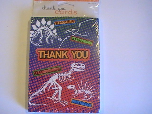 American Greetings Dinosaur Thank You Note Cards
