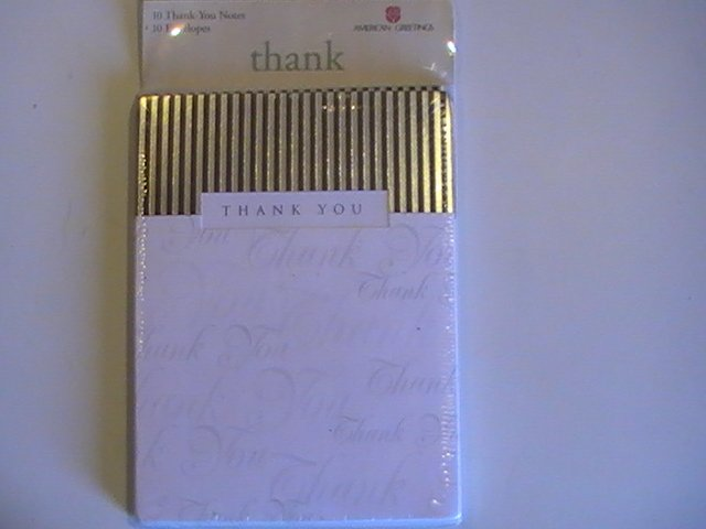 American Greetings Fancy Thank You Note Cards