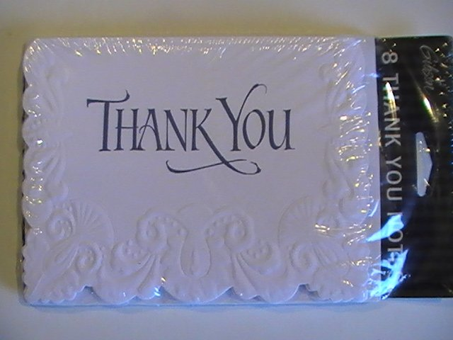 Gibson Cards Beautifully Scalloped Thank You Note Cards