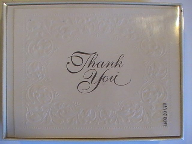 Carlton Cards Textured Thank You Note Cards