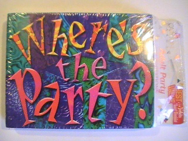 Carlton Cards Adult Where's The Party Invitations