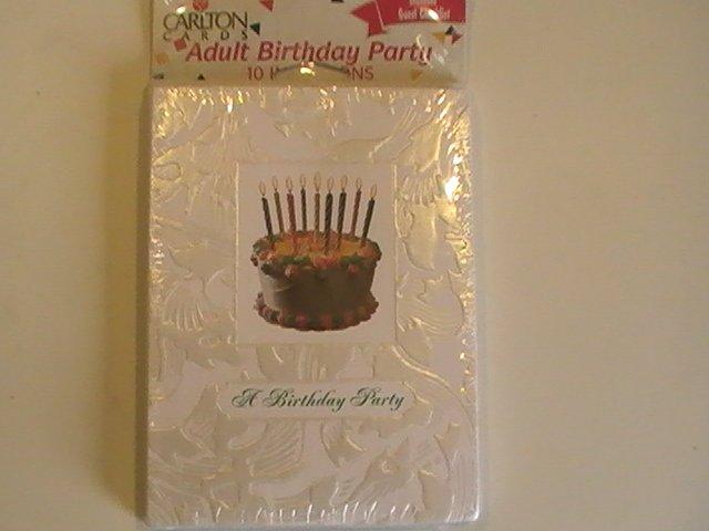 Carlton Cards A Birthday Party Invitation Cards