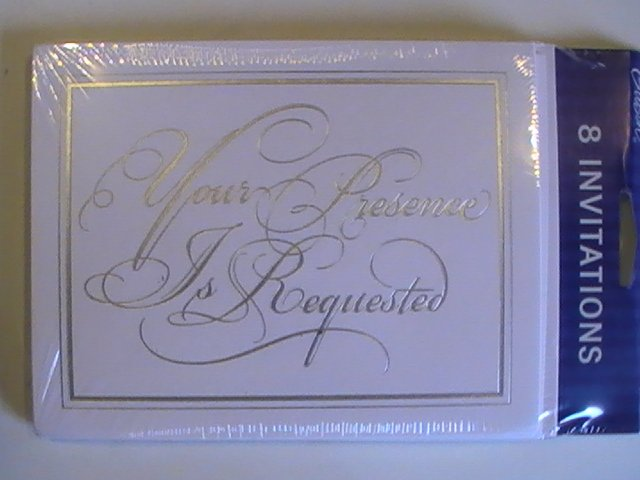 Gibson Cards You're Presence Is Requested Invitations