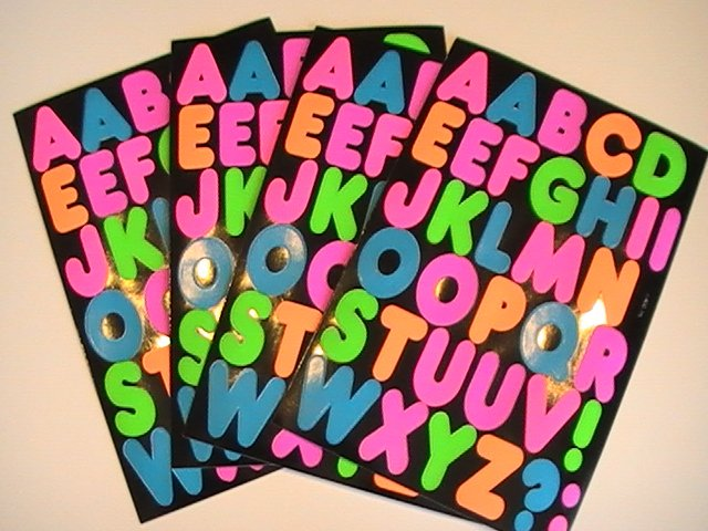 American Greetings Alphabet Stickers (4 Sheets)