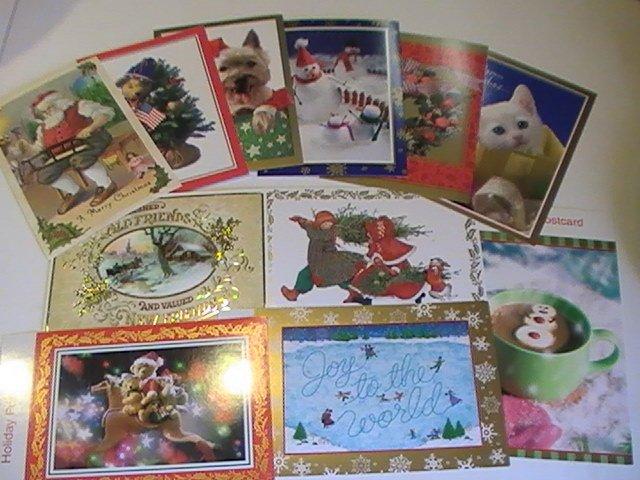 American Greetings Assorted Holiday Christmas PostCards