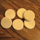 Crokinole Game Board Playing Discs (Set of 6 Natural)