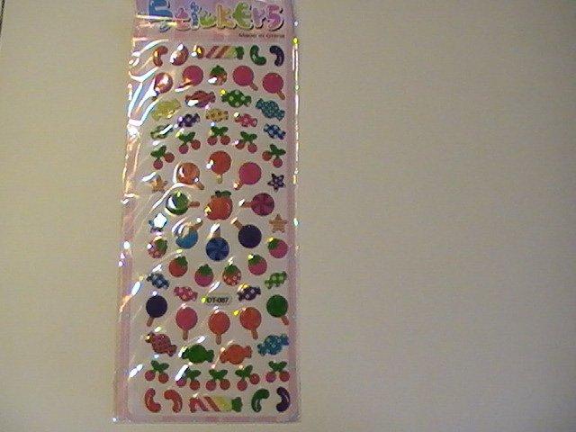 Puffy Lollipop Candy Craft Scrapbook Stickers