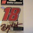 NASCAR 18 Bobby Labonte Embroidered Scrapbook Sticker