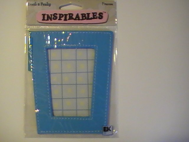 Inspirables Fresh &Funky Craft Scrapbook Leather Frame