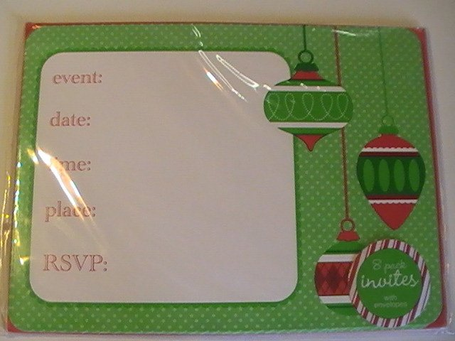 Holiday Single Panel Design Greetings Invitation Cards