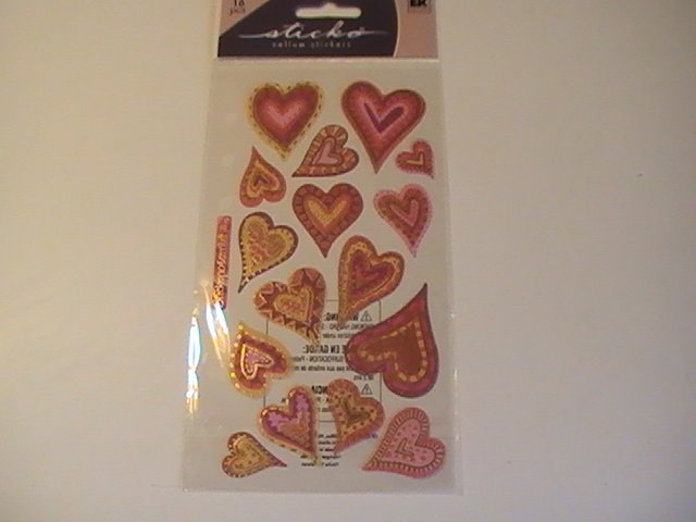 Sticko Vellum Expressive Hearts Scrapbook Stickers