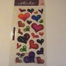 Sticko Sparkle Glitter Hearts Craft Scrapbook Stickers