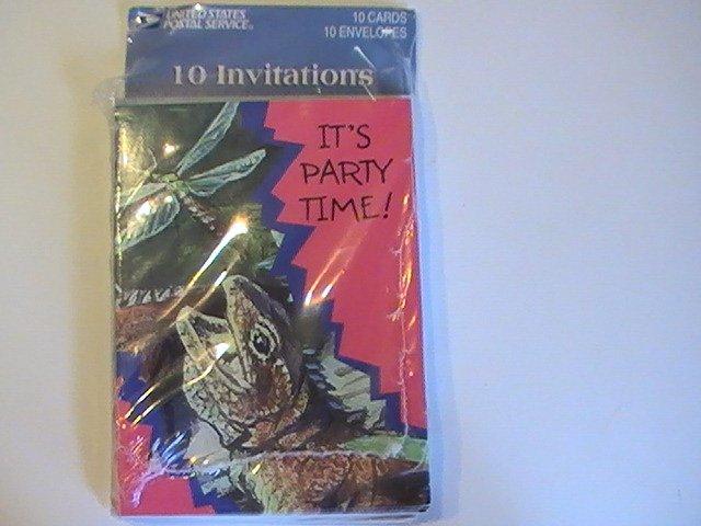 United States Postal Birthday Party Invitation Cards