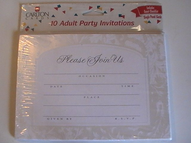 Carlton Greetings Adult Party Invitation Cards