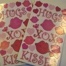 Sandylion HUGS XOX KISSES Scrapbook Stickers