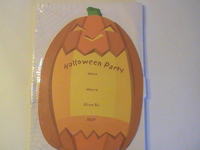 Die Cut Fill Scalloped Pumpkin Invitation Cards