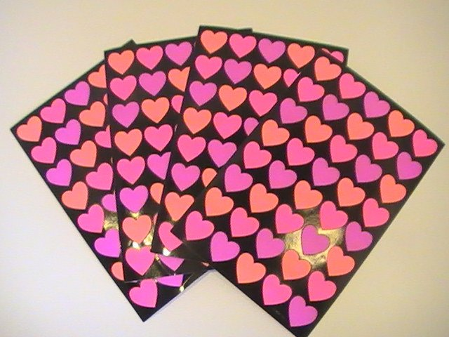 American Greetings Colorful Heart Stickers (4 Sheets)