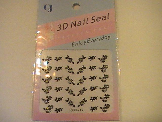 CJ 3D Design Fingernail Decoration Nail Seal Stickers