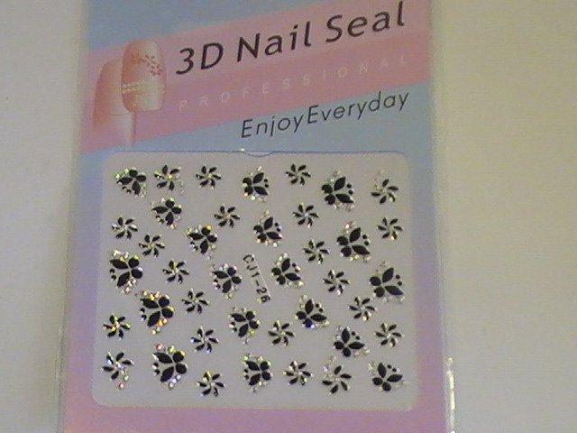 CJ 3D Design Fingernail Decoration Nail Seal Sticker