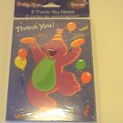American Greetings Barney  Thank You Note Cards
