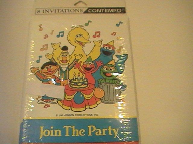 Contempo Sesame Street Party Invitation Cards