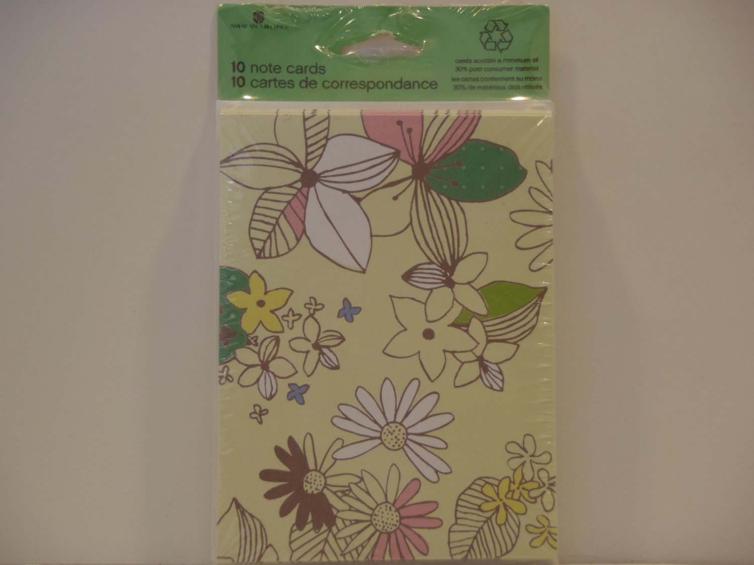 American Greetings Welcoming Flowers Blank Note Cards
