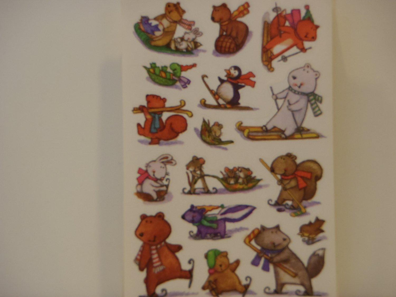 American Greetings Animal Winter Fun Craft Stickers (5 Sheets)