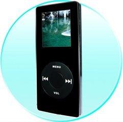 "Black Beauty 4GB MP4 Player - 1.5"" LCD (Dual Earphones)"