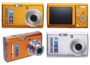 "Smart 3x Optical Zoom 6.1 MP Camera, 2.5"" LCD"