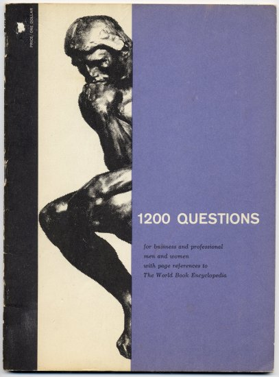 Vintage 60s (PB) 1200 Questions The World Book Encyclopedia Vintage Book